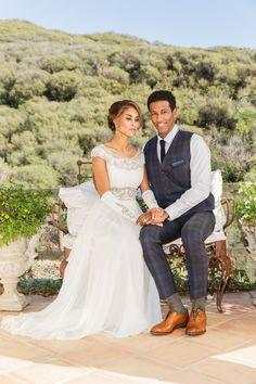 Styled Shoot: Malibu Vineyard Dreams! - Bridal Beauty Magazine Greek Goddess Wedding Dresses  Eugenia Couture Wedding Dresses  Real Eugenia Couture Brides  www.eugeniacouture.com
