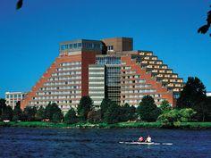 Cambridge Ma Hyatt Regency Overlooking Boston United States North America The