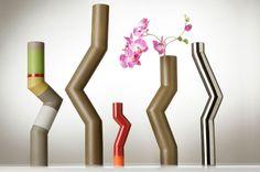 Tubes by Arik Levy, 2007: Ceramic vase collection. #Vase #Arik_Levy