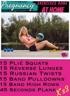 Work the entire body with this pregnancy workout that can be done from home and is safe to do in every trimester.  There are lots of super self pregnancy tips in this blog. Lots of pregnancy exercises, workouts and diet tips.  http://michellemariefit.publishpath.com/the-best-pregnancy-home-workout
