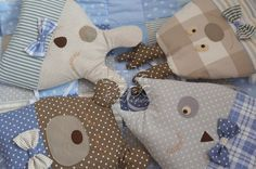 Бортики в кроватку, буквы подушки, LulaBooo