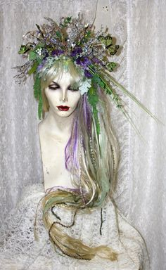 Mid Summer's Night Dream Feral Twig Fairy Queen by FeralFairies Renaissance Wedding, Renaissance Fair, Fairy Queen, Queen Costume, Woodland Fairy Costume, Dream Party, Midsummer Nights Dream, Faeries, Fairy Princesses
