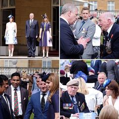 The Duke of York, Princess Beatrice and Princess Eugenie meet veterans and their families at the annual Not Forgotten Association Garden Party at Buckingham Palace.