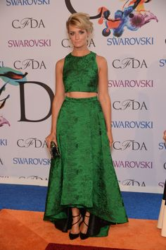 Actress Beth Behrs attends the 2014 CFDA Fashion Awards at Alice Tully Hall, Lincoln Center on June 2, 2014 in New York City. via StyleList