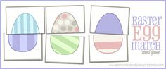 Adorable Easter Egg Matching Game! Great way to get the little ones excited!