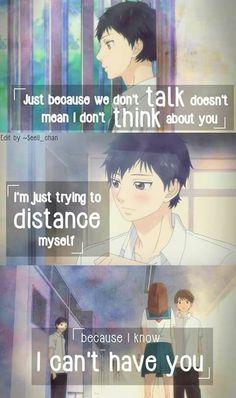 Don'T give up on someone you love ao haru ride kou, sad anime M Anime, Anime Life, I Love Anime, Sad Anime Quotes, Manga Quotes, Futaba Y Kou, Rasengan Vs Chidori, Ao Haru, Anime Triste