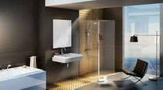 Walk-in Corner zuhanykabin Bathtub, Corner, Mirror, Bathroom, Storage, Wall, Furniture, Home Decor, Design