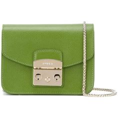 Furla mini 'Metropolis' crossbody bag ($262) ❤ liked on Polyvore featuring bags, handbags, shoulder bags, green, furla purses, furla handbags, mini crossbody, miniature purse and green crossbody