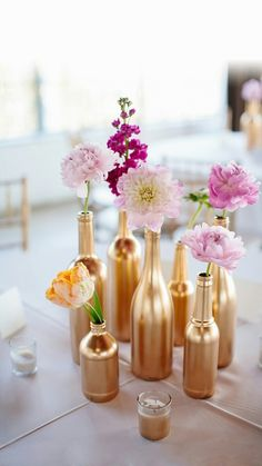 Image de flowers, diy, and gold