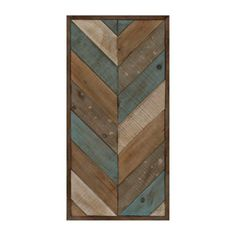 Patchwork Chevron I Wood Plank Plaque | Kirklands