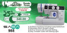 SASA 988 #ramadan #kareem #discount #sale #sewing #machine #sasa #stitch #fashion #online #mall