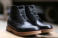 self edge + leather soul alden boots