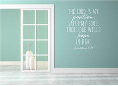 The Lord Is My Portion Scripture Wall Decal Religious Wall | Etsy Vinyl Quotes, Wall Quotes, Bible Quotes, Vinyl Wall Decals, Wall Stickers, Vinyl Decor, Scripture Signs, Family Wall, Custom Wall
