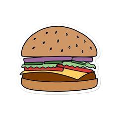 Adhesive Vinyl, Hamburger, Bubbles, Food Stickers, How To Apply, Art Prints, Printed, Illustration, Leo