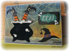 Halloween card. www://scrappergrl.blogspot.com