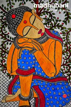 Indian Traditional Paintings, Modern Indian Art, Indian Folk Art, Indian Art Paintings, Indian Artist, Budha Painting, Worli Painting, Krishna Painting, Sketch Painting