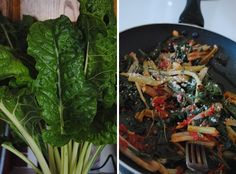 Swiss Chard from My Uncle's Garden & My Aunt's Sicilian Swiss Chard Recipe