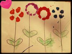 mixed media flowers By josh