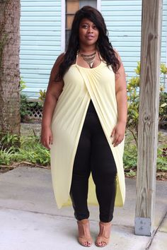 Long Wrap Halter Top - Buttercup (Sizes 14 - 24)