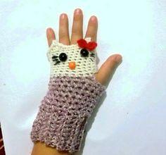 CROCHET PATTERN Hello Kitty Fingerless Gloves (Pdf file). $2.99, via Etsy.