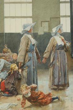 « L'INVASION 1870 » AQUARELLE ORIGINALE PAR Ludovico MARCHETTI (1853-1909).