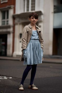Thea    Photographed by The Sartorialist in London