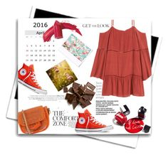 """""""Easy"""" by theitalianglam ❤ liked on Polyvore featuring Elizabeth Arden, Polaroid, Chanel, Converse, GetTheLook and converse"""