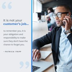 It is ultimately up to YOU to gain your #customer's trust and maintain a good relationship with them. Make it impossible for them to forget you or take their #business elsewhere.