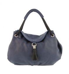 Maxi bolso en piel con solapa y borla - Paula Alonso | Tienda online