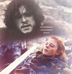 Jon and Ygritte - I have been waiting so long for her appearance onscreen! // Game of Thrones