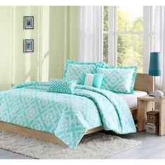 Leah 5 Piece Comforter Set - Teal (Full/Queen) : Target