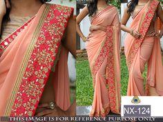 Auction ending...place yr bid soon...Designer Sari Indian Bollywood Party Pakistani Saree Ethnic Wedding Women NX-124 #StyleFashionHub #Saree