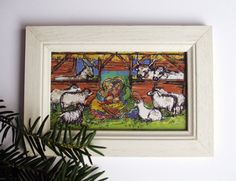 Holy Family Christmas Illustration in Frame / by LiveSpring