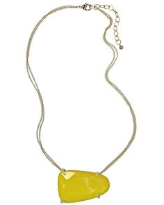 Maude Necklace in Yellow Onyx