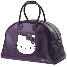 0681a710472 Purple Hello Kitty Pictures   Hello Kitty Purple Large Weekend Bag By  Camomilla Immagini Hello Kitty