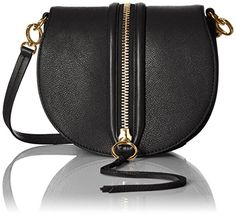 Women's Cross-Body Handbags - Mara Saddle Bag Shoulder Bag BLACK One Size ** Click on the image for additional details.