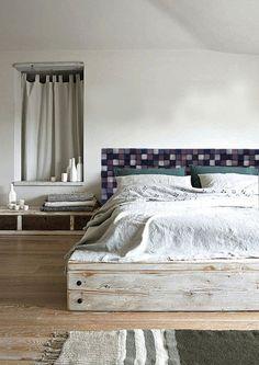 Wezgłowie łóżka NA ZAMÓWIENIE - DrewnianaSciana - Łóżka