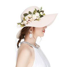 Kajeer Floppy Fascinator Tea Party Hats Flowers Straw Hat for Women Beige Tea Party Attire, Tea Party Outfits, Party Outfits For Women, Tea Party Hats, Tea Parties, Work Outfits, Unicorn Party Hats, Dinosaur Party, High Tea Hats