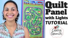 We've teamed up with Vanessa Vargas Wilson of 'The Crafty Gemini' to show you how to create a quilt panel with lights to hang on your wall. The written instr. Sewing Binding, Quilt Binding, Quilting Tips, Quilting Tutorials, Christmas Tree Quilt Panel, Crafty Gemini, Panel Quilts, Fabric Panels, Baby Quilts