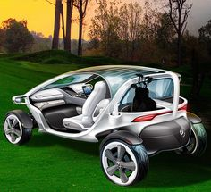 The Mercedes Vision Golf Cart has both, a good design and the latest technology. #golf #golfbuggies #golfcart