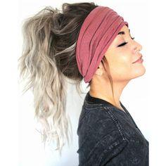 Mauve Scrunch Headband Extra Wide Headband Jersey Headband Extra Wide Jersey Headband Boho Headb