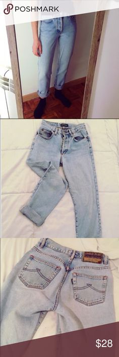 Vintage Boyfriend Jeans Awesome vintage boyfriend jeans. These fit amazing. Style is a boyfriend straight leg. Button fly. Brand is James dean. Not Levi's but fit exactly like 501's. These are seriously perfect!!! Levi's Jeans Boyfriend