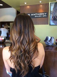 Brunette Balayage and haircut