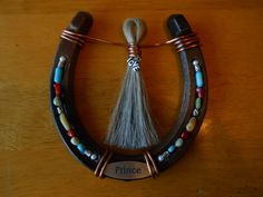 Custom Horseshoe with mane or tail hair by HoofSpirit on Etsy