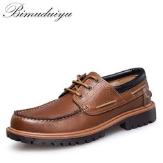 MVVT Brand plus size men' shoes Comfort casual shoes men flats Genuine leather business shoes men's oxfords Boat Shoes, Men's Shoes, Shoes Men, Dress Shoes, Guy Shoes, Prom Shoes, Sperry Shoes, Platform Shoes, Converse