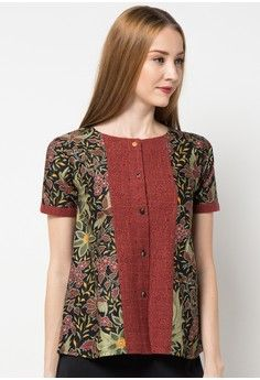 Model Blouse Batik Kekinian