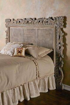 oh the places ill go Rouleau Caned Headboard - Caned Headboard, Patina Headboard Home Bedroom, Bedroom Furniture, Bedroom Decor, Cane Furniture, Furniture Online, Furniture Outlet, Bedroom Themes, Furniture Stores, French Country Bedrooms