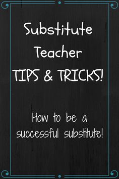 Ms. F's Teaching Adventures: Tips and Tricks for Substitute Teachers