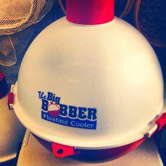 Floating bobber cooler.