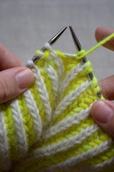 2 color brioche stitch in the round